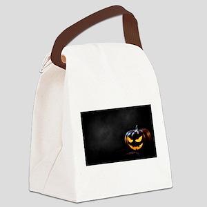 Halloween Pumpkin Jack-O-Lantern Canvas Lunch Bag