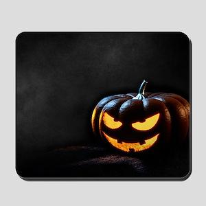 Halloween Pumpkin Jack-O-Lantern Spooky Mousepad