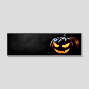 Halloween Pumpkin Jack-O-Lantern Car Magnet 10 x 3