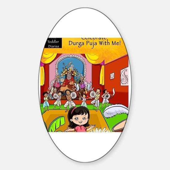 Funny Durga Sticker (Oval)