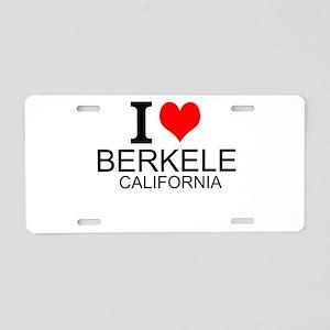 I Love Berkeley, California Aluminum License Plate