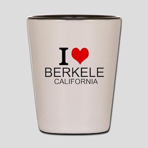 I Love Berkeley, California Shot Glass