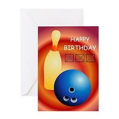 Bowling, 300 - Birthday Card