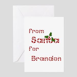 From Santa For Brandon Greeting Card