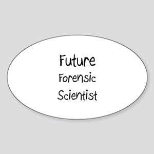 Future Forensic Scientist Oval Sticker