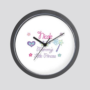 Nicole - Mommy's Little Princ Wall Clock