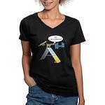 Look At Meeee Women's V-Neck Dark T-Shirt