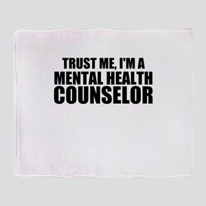 Trust Me, I'm A Mental Health Counselor Throw Blan