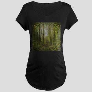 magical trail scene Maternity Dark T-Shirt