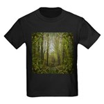 magical trail scene Kids Dark T-Shirt