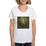 magical trail scene Women's V-Neck T-Shirt
