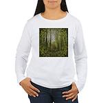 magical trail scene Women's Long Sleeve T-Shirt