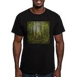 magical trail scene Men's Fitted T-Shirt (dark)