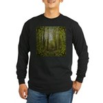 magical trail scene Long Sleeve Dark T-Shirt