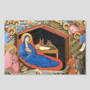 Nativity scene by Duccio Postcards (Package of 8)
