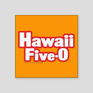 "Hawaii Five-0 Logo Square Sticker 3"" x 3"""