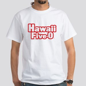 Hawaii Five-0 Logo White T-Shirt