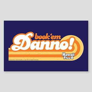Book 'Em Danno! Sticker (Rectangle)