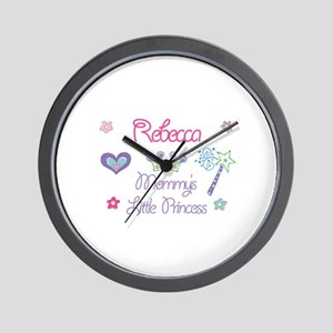 Rebecca - Mommy's Little Prin Wall Clock