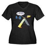 I'm Biggest Women's Plus Size V-Neck Dark T-Shirt