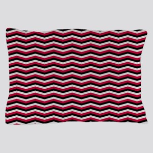 Red and Black Chevron Pattern Pillow Case