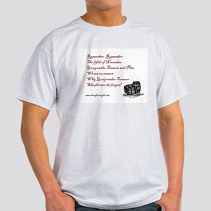 Remember Remember Traditional Simple T-Shirt