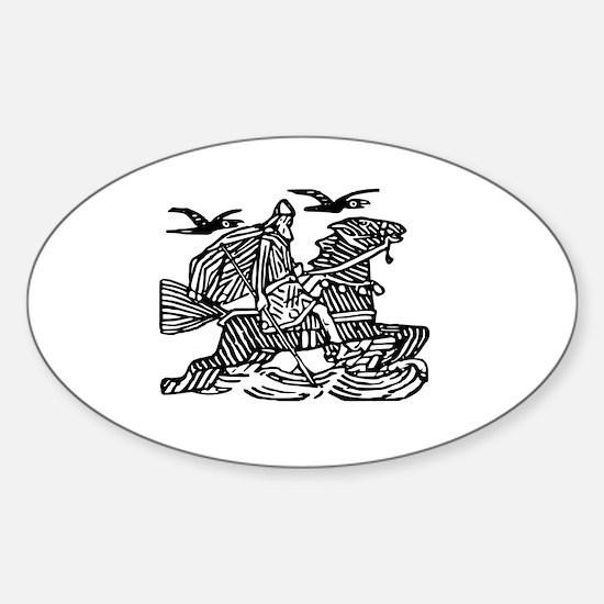Cute Odin Sticker (Oval)