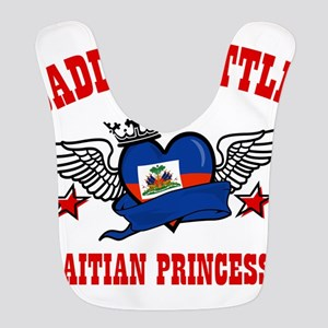 Daddy's little Haitian Princess Polyester Baby Bib