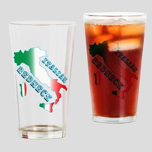 Italian Redneck Drinking Glass