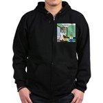 Tinted-Glasses Problem Zip Hoodie (dark)