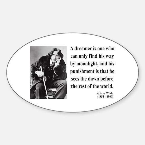 Oscar Wilde 6 Oval Decal