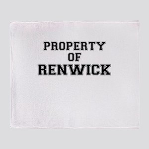 Property of RENWICK Throw Blanket