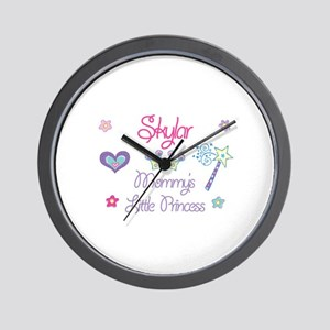 Skylar - Mommy's Little Princ Wall Clock