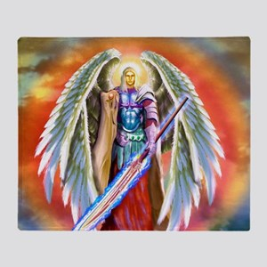 Angel Michael Throw Blanket