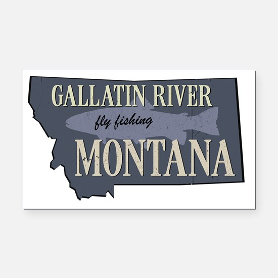 Funny Montana Rectangle Car Magnet