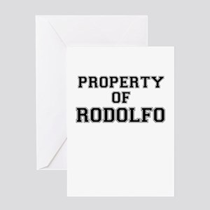 Property of RODOLFO Greeting Cards