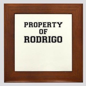 Property of RODRIGO Framed Tile
