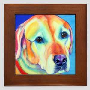 Yellow Lab Framed Tile