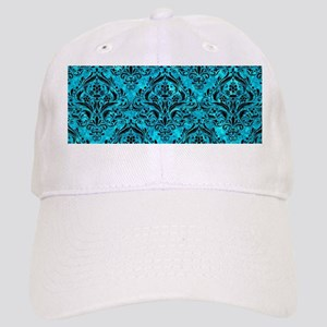 DAMASK1 BLACK MARBLE & TURQUOISE MARBLE (R) Cap
