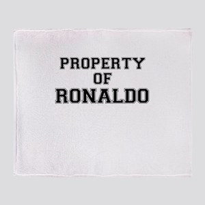 Property of RONALDO Throw Blanket
