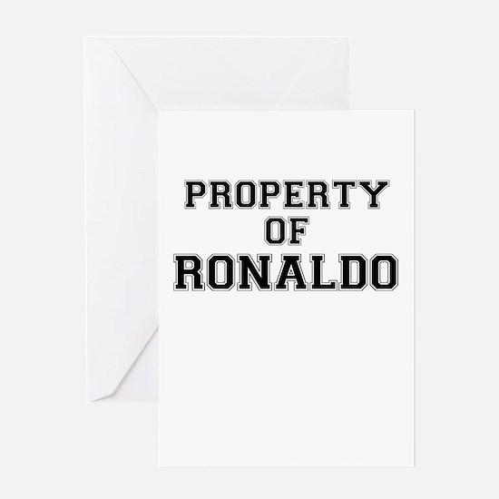 Property of RONALDO Greeting Cards