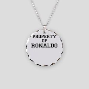 Property of RONALDO Necklace Circle Charm