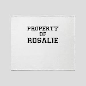 Property of ROSALIE Throw Blanket