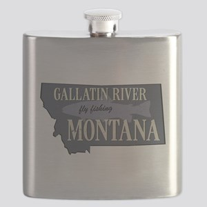 Gallatin River Fly Fishing Flask