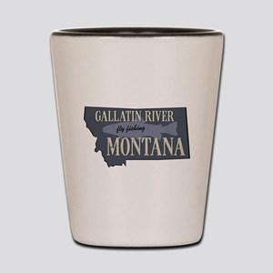 Gallatin River Fly Fishing Shot Glass