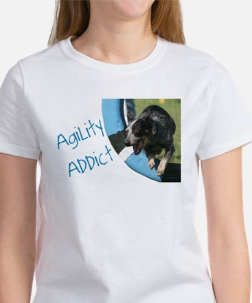 Blue Heeler Agility Artwork Women's T-Shirt