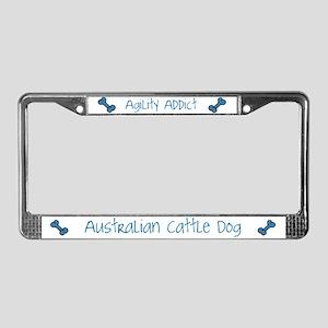Blue Heeler Agility Artwork License Plate Frame