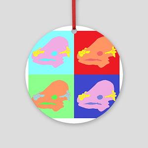 Pachycephalosaurus (Colour) Round Ornament