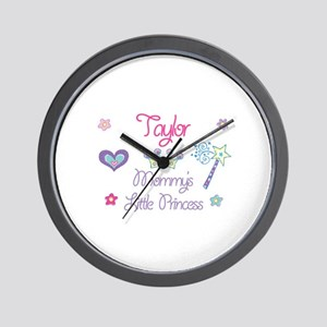 Taylor - Mommy's Little Princ Wall Clock