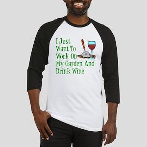 Work On Garden And Drink Wine Baseball Jersey